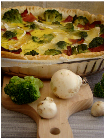 QUICHE  FERMIÈRE,(Weight Watchers)