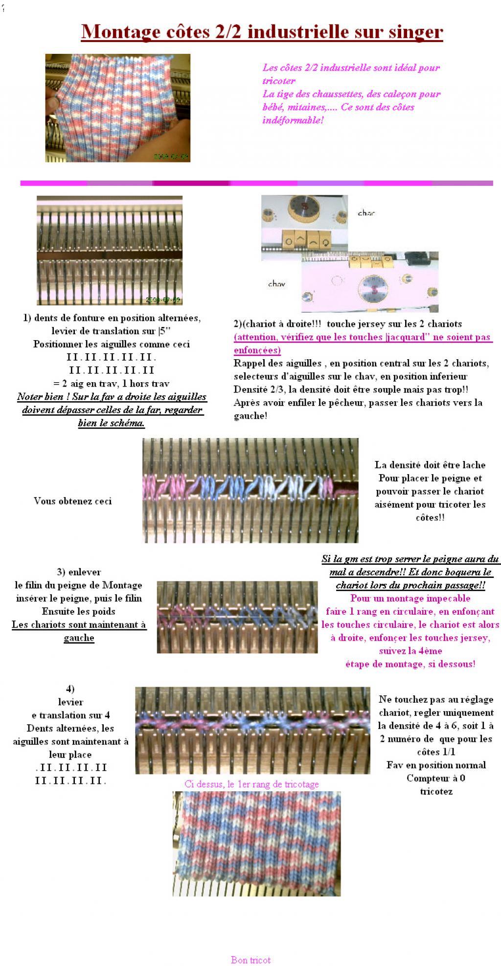 comment tricoter 2 2