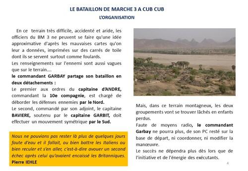 * 80e Anniversaire de la Campagne d'Erythrée (février-avril 1941) - 4 -Le Bataillon de Marche 3 combat à Cub-Cub