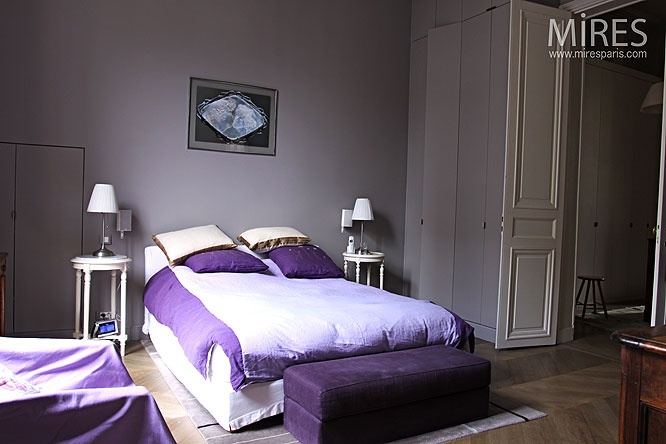 d coration chambre mauve et gris. Black Bedroom Furniture Sets. Home Design Ideas