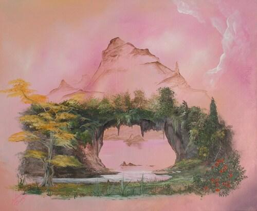 l'odyssée de la terre <acrylique 12f sur toile>