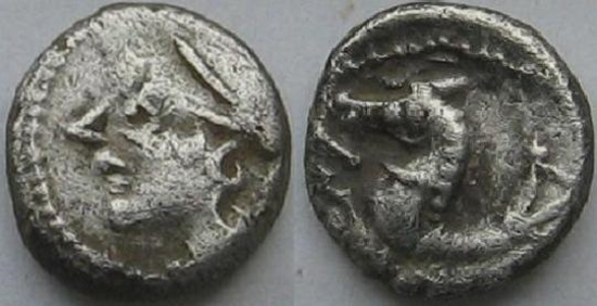 Denier à l'Hippocampe  Monnaie Gauloise en argent