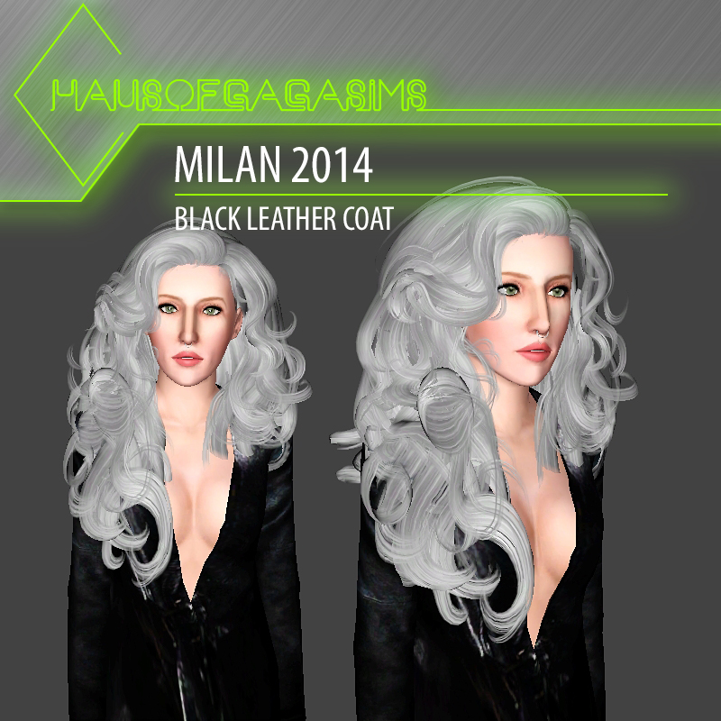 MILAN 2014 BLACK LEATHER COAT
