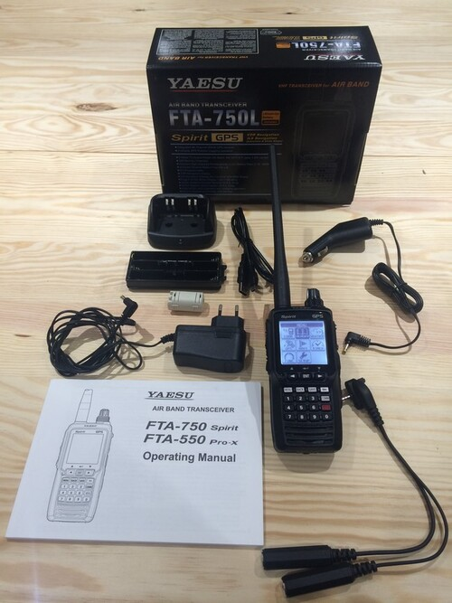 Réception de la radio VHF YAESU FTA-750L