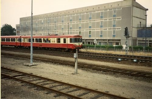 La gare en 1980 en activité