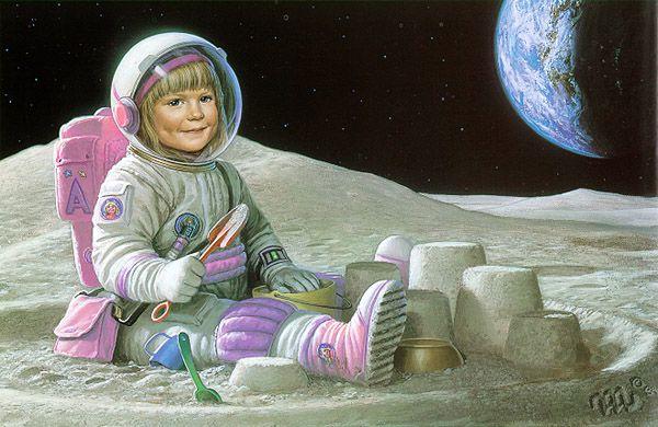 Une peinture de l'artistre Michael Whelan