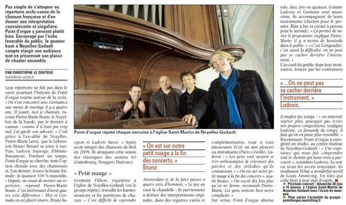 POINT D'ORGUE, QUATRE GARCONS DANS LE CHANT