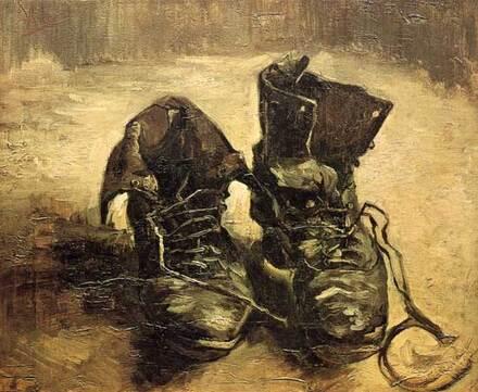 Titre de l'image : Vincent van Gogh - Vieux souliers aux lacets