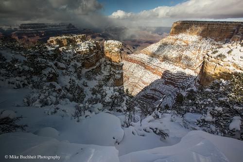 L'hiver s'est installé à Grand Canyon