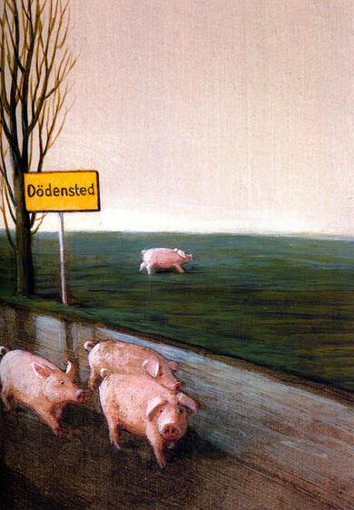 We Want No Pigs in Dodensted (detail) (2) by Michael Sowa