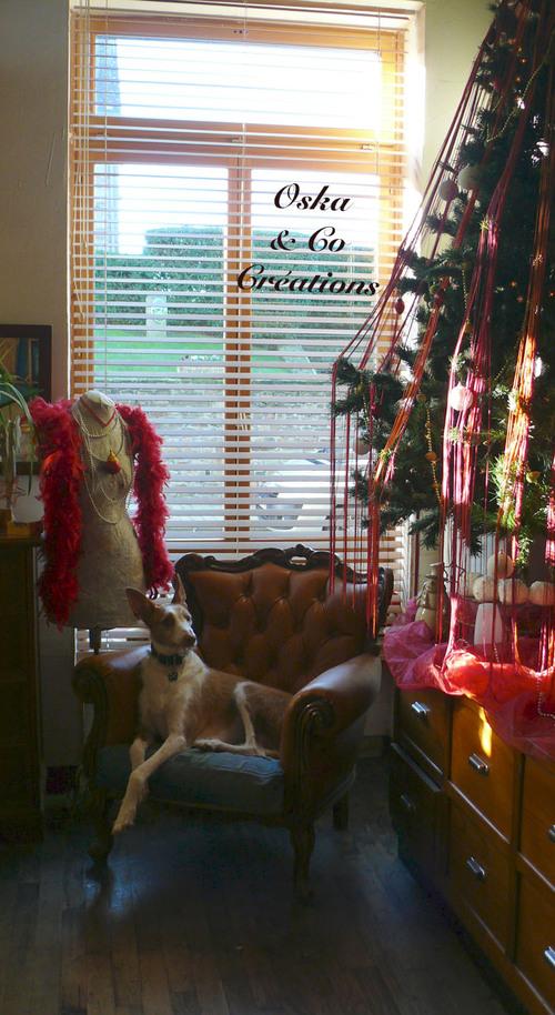 Décoration de Noël : rideau de fils dans le sapin