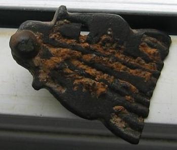Plaque de boucle Mérovingienne  7ème siècle  face