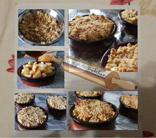 Crumble aux pommes caramel beurre salé