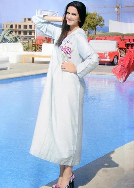 Djellaba élégance de la haute couture sur mesure de la collection 2015 jilbab et jalaba de qualité  DJ-S852