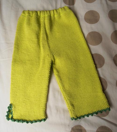 Pantalon picot