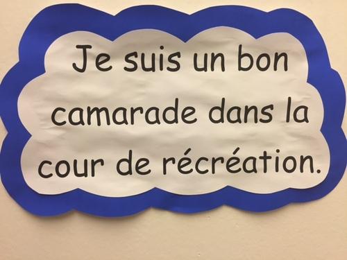 Quelques règles de vie affichées dans nos couloirs