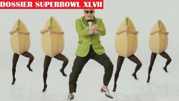 Psy danse le Gangnam Style avec des pistaches géantes