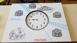 La version carton plume à placer autour de l'horloge.