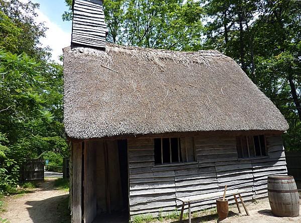 Plimoth Plantation Maison toit de chaume