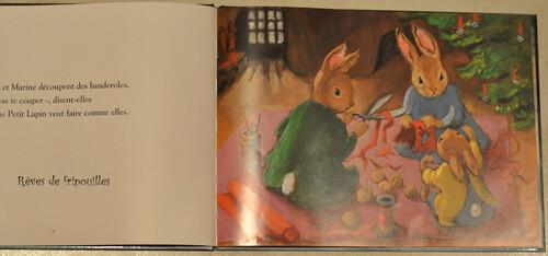 Le petit lapin de Noël d'Olga Lecaye - éd l'école des loisirs