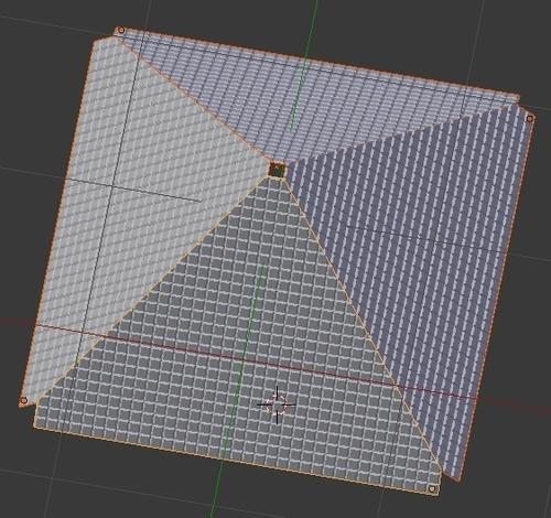 Le mur dupliqué 3 fois pour former la pyramide