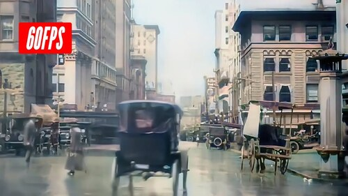 21 OLD FILMS FROM 1895 TO 1902 COLORIZED AND UPSCALED IN 60 ftp (Voyages)