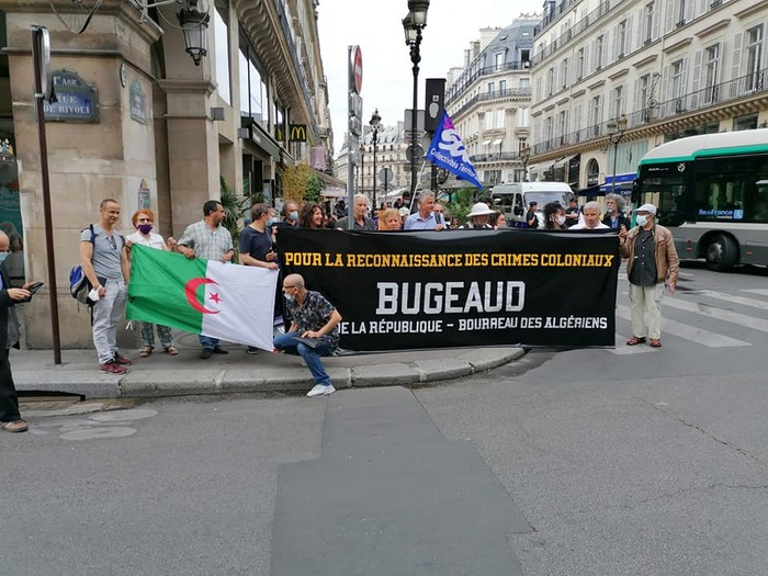 En mémoire des enfumades ordonnées par le colonel Pélissier le 18 juin 1845 pour asphyxier les civils algériens réfugiés dans une grotte