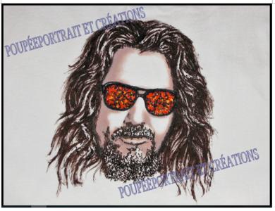 * Article Artblog N°6: Portrait The big Lebowski, tee-shirt