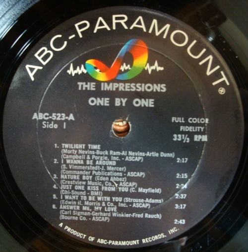 "1965 : Album "" One By One "" ABC Paramount Records ABCS 523 [ US ]"