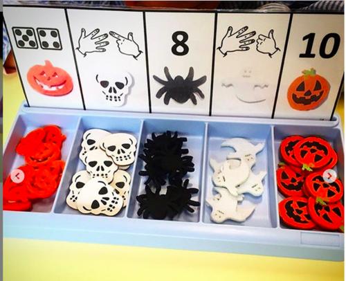 Boîte à compter halloween