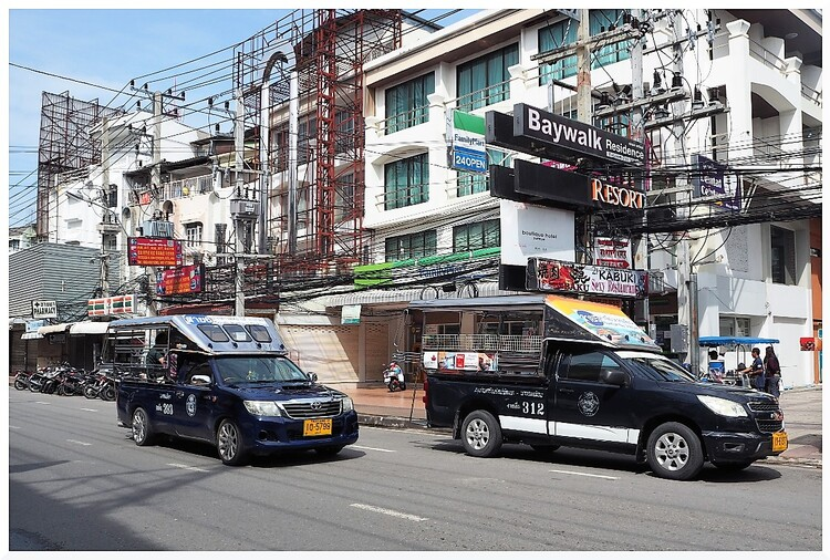 Immeubles et rues Pattaya, Thaïlande.
