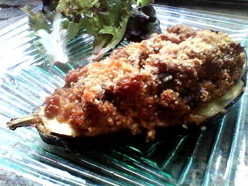Aubergine Farcie au Quinoa à la provençale...pour du soleil dans l'assiette quand il pleut {Vegan}