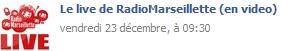 Le live Radio Marseillette!