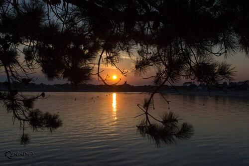 couché de soleil sur Bénodé
