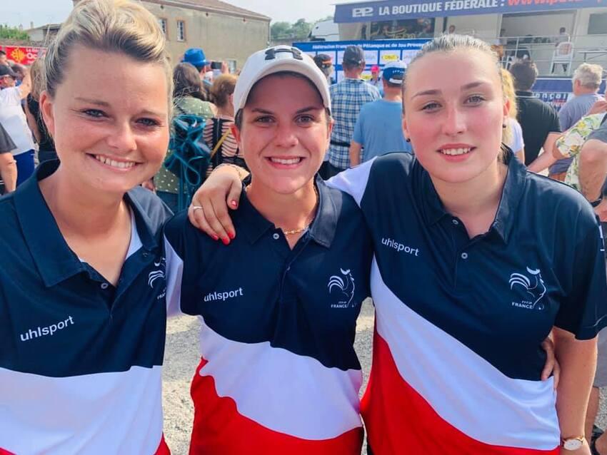 Emilie, Cindy et Audrey CHAMPIONNES DE FRANCE 2019.