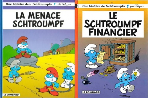 Peyo, Le schtroumpf financier # La menace schtroumpf