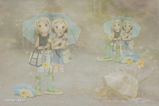 design pluie de printemps