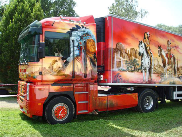 camion americain cow boy voiture tuning. Black Bedroom Furniture Sets. Home Design Ideas