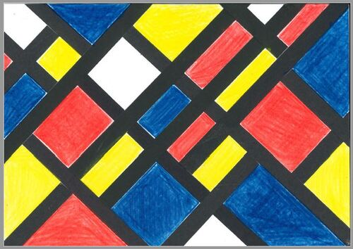 Art et géométrie les angles droits avec Piet Mondrian