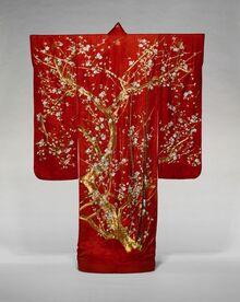 Etude de textile chinois avec le kimono