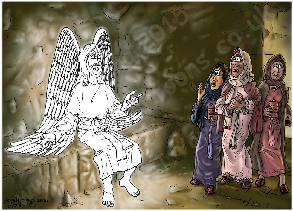 Mark 16 - Resurrection of Jesus - Scene 03 - Angel