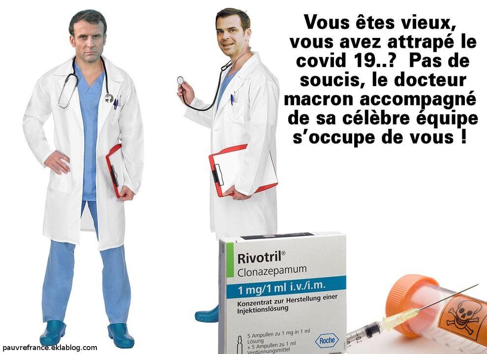 Rivotril, le remède miracle du docteur Macron.