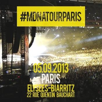 MDNA World Tour - Projection Privée Paris - Hashtag