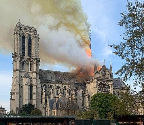 L'INCENDIE DE NOTRE DAME DE PARIS