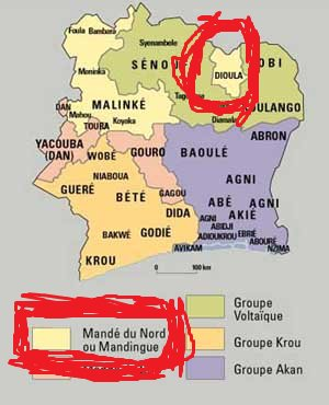 Mandingue...Dioula...une langue d'Afrique de l'Ouest
