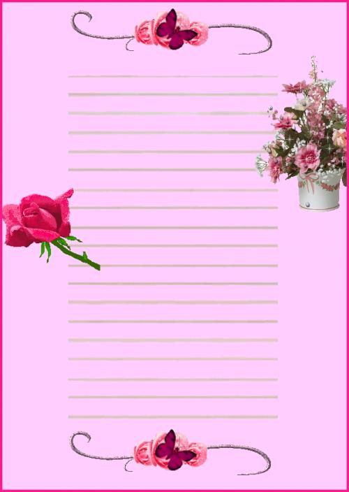 Papier à lettres à imprimer.