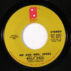 Billy Paul : Me And Mrs Jones (1972)