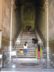 Les Saintes reliques : L'escalier emprunté par le Christ