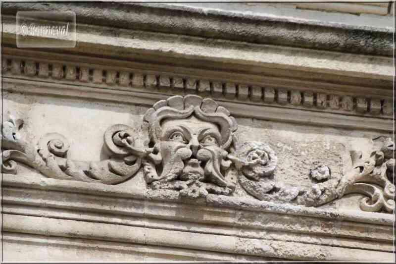La Rochelle rue du Minage détail maison Renaissance