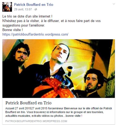 Patrick Bouffard en trio